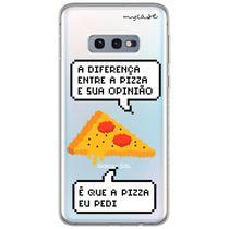 Capa para Galaxy S10 Plus - Diferença entre pizza e sua opinião - Mycase