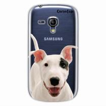Capa para Galaxy S3 Mini Bull Terrier Transparente - Quero case