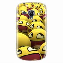 Capa para Galaxy S3 Mini Emoticon 01 - Quero case
