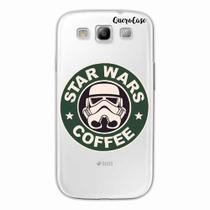 Capa para Galaxy S3 Star Wars Coffee Transparente - Quero case