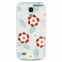 Capa para Galaxy S4 Mini Blue Floral Transparente - Quero case