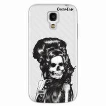 Capa para Galaxy S4 Mini Caveira Amy Winehouse Transparente - Quero case