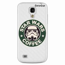 Capa para Galaxy S4 Mini Star Wars Coffee Transparente - Quero case