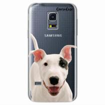 Capa para Galaxy S5 Mini Bull Terrier Transparente - Quero case