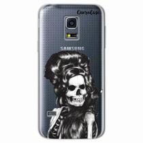 Capa para Galaxy S5 Mini Caveira Amy Winehouse Transparente - Quero case