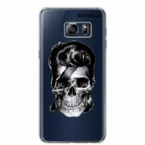 Capa para Galaxy S6 Edge Plus Caveira David Bowie Transparente - Quero case