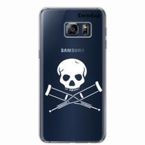 Capa para Galaxy S6 Edge Plus Caveira Jackass Transparente - Quero case