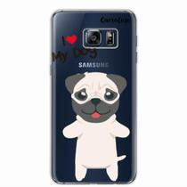 Capa para Galaxy S6 Edge Plus I Love My Pug - Quero case