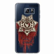 Capa para Galaxy S6 Edge Walking Dead Distintivo - Quero case