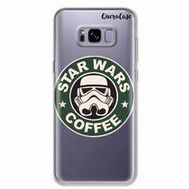 Capa para Galaxy S8 Plus Star Wars Coffee Transparente - Quero case