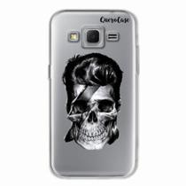 Capa para Galaxy Win 2 Duos TV Caveira David Bowie Transparente - Quero case