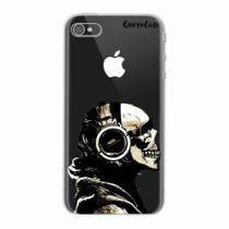 Capa para iPhone 4/4S Caveira Headphone Transparente - Quero case