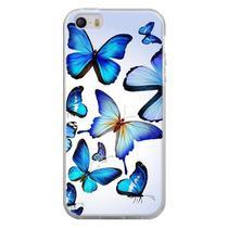 Capa para iPhone 4 e 4S - Borboletas Azuis - Mycase