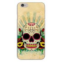 Capa para iPhone 4 e 4S - Caveira Mexicana  Color - Mycase