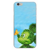 Capa para iPhone 4 e 4S - Mickey  Folhas verdes - Mycase