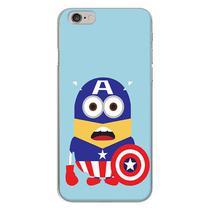 Capa para iPhone 4 e 4S - Minions  Capitão América - Mycase