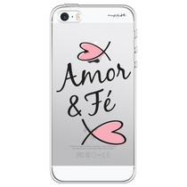 Capa para iPhone 4 e 4S - Mycase Amor e fé. -