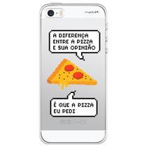 Capa para iPhone 4 e 4S - Mycase Diferença entre pizza e sua opinião. -