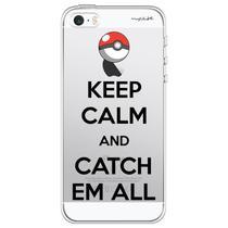 Capa para iPhone 4 e 4S - Mycase Keep Calm and Catch Em All -