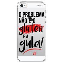 Capa para iPhone 4 e 4S - Mycase O problema não é o gluten, é a gula -
