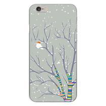 Capa para iPhone 4 e 4S - Passarinho na Neve - Mycase