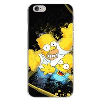 Capa para iPhone 4 e 4S - Simpsons  Homer e Bart - Mycase