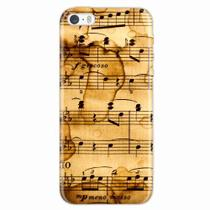 Capa para iPhone 5/5S Partitura Musical 01 - Quero case