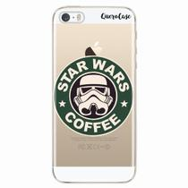 Capa para iPhone 5/5S Star Wars Coffee Transparente - Quero case