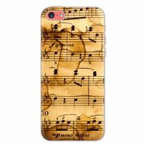 Capa para iPhone 5C Partitura Musical 01 - Quero case