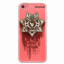 Capa para iPhone 5C Walking Dead Distintivo - Quero case