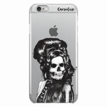 Capa para iPhone 6/6S Plus Caveira Amy Winehouse Transparente - Quero case