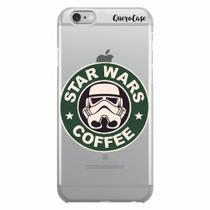 Capa para iPhone 6/6S Plus Star Wars Coffee Transparente - Quero case