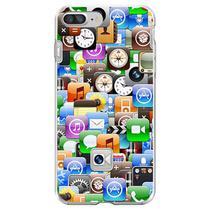 Capa para iPhone 6 Plus e 6S Plus - Ícones - Mycase