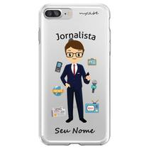 Capa para iPhone 6 Plus e 6S Plus - Mycase Jornalista Homem -