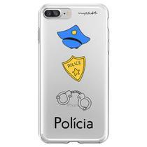 Capa para iPhone 6 Plus e 6S Plus - Mycase Polícia -