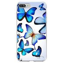 Capa para iPhone 7 Plus e 8 Plus - Mycase  Borboletas  Azuis -