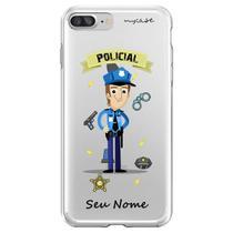 Capa para iPhone 7 Plus e 8 Plus - Mycase  Policial  Homem -
