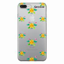 Capa para iPhone 7 Plus Flores Amarelas Transparente - Quero case
