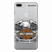 Capa para iPhone 7 Plus Harley Davidson Transparente - Quero case