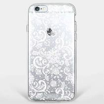Capa para iPhone 8/7 Transparente Renda White - Gocase
