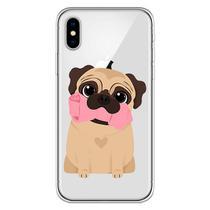 Capa para iPhone X - Mycase  Pug  Cute -