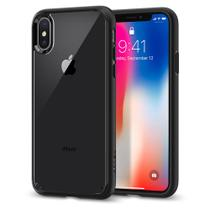 Capa para iphone x ultra hybrid spigen matte black