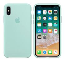 Capa para iPhone XR Silicone Case Verde Água + Película de Vidro - Ming Case