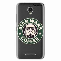 Capa para Lenovo Vibe B Star Wars Coffee Transparente - Quero case