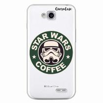 Capa para LG L70 Star Wars Coffee Transparente - Quero case