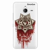 Capa para Lumia 640 XL Walking Dead Distintivo - Quero case