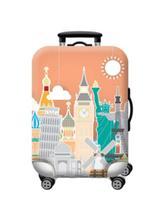Capa para mala de viagem estampa monumentos de viagem tamanho g - Mimos E Viagens