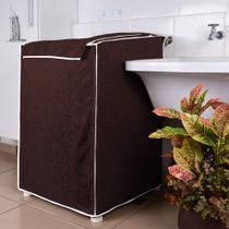 Capa para Máquina de Lavar 10kg Á 12 kg Impermeável - Marrom - Ana Laura Enxovais