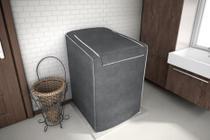 Capa para Maquina De Lavar 12,13,15 e 16 Kg Electrolux - Cor Chumbo - Adomes