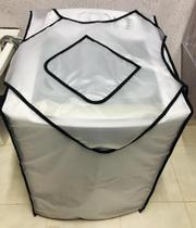 Capa para máquina de lavar 13-15kg impermeável + Avental impermeável com bolso para grampos - Atcompact